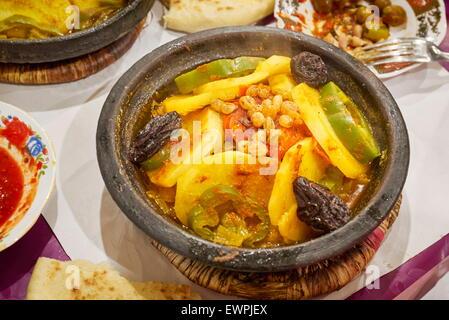 Traditional moroccan dish tajine morocco stock photo for Authentic moroccan cuisine