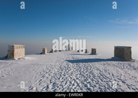 A view from Monte grappa first world war memorial, Italy - Stock Photo