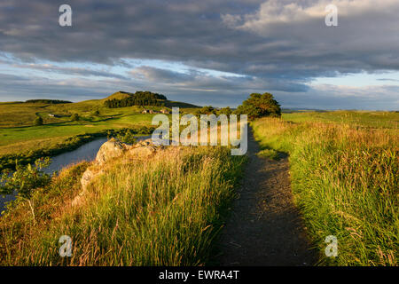 Hadrian's Wall Long Distance Trail - Stock Photo