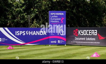 London, UK. 30 June 2015. The 16th tee box on practice day for the ISPS HANDA Ladies European Masters at the Buckinghamshire - Stock Photo