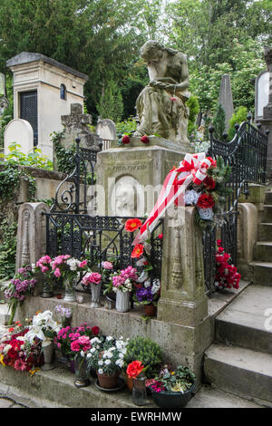 Paris,France,Pere,Lachaise,cemetery,Paris,Chopin,grave, - Stock Photo