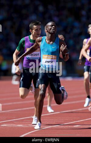 Nijel AMOS, Adam KSZCZOT, Men's 800m, IAAF Diamond League 2015, Alexander Stadium, Birmingham, UK, 7th June 2015. - Stock Photo