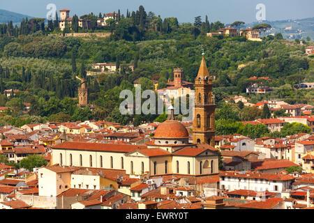 Oltrarno and Santo Spirito in Florence, Italy - Stock Photo