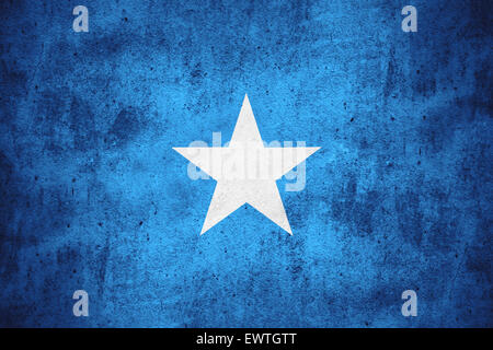 flag of Somalia or Somali banner on rough pattern texture background - Stock Photo