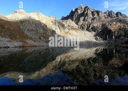 The Gordolasque valley in the Mercantour national park, Alpes- Maritimes, France - Stock Photo