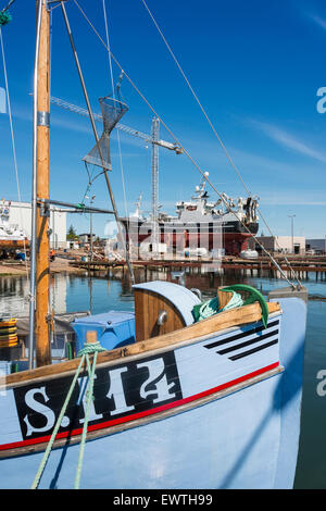Severn-class Lifesaving boat in dry dock, Skagen, North Jutland Region, Denmark - Stock Photo