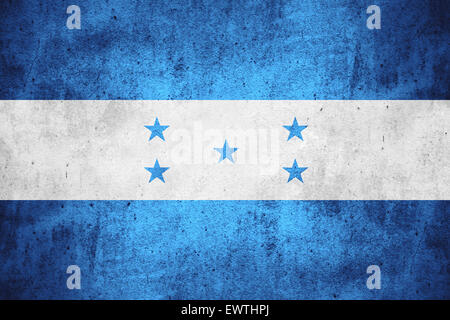 flag of Honduras or Honduran on rough pattern texture background - Stock Photo
