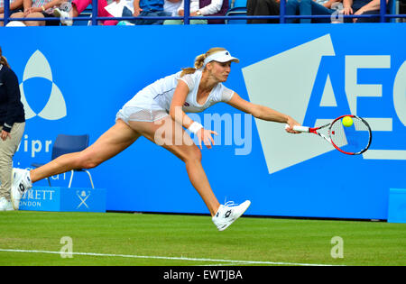 Ekaterina Makarova (Russia) playing the the Aegon International at Eastbourne, 2015 - Stock Photo