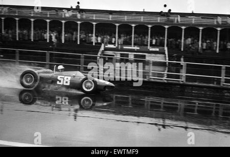 British Grand Prix Formula One motor racing at the Aintree Circuit near Liverpool. Giancarlo Baghetti in action. - Stock Photo