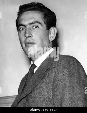 Italian motor racing driver Luigi Musso. September 1955. - Stock Photo
