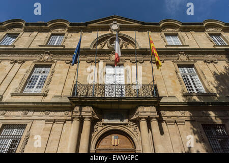 Market Place, Town Hall, Hotel de Ville,  Aix-en-Provence - Stock Photo