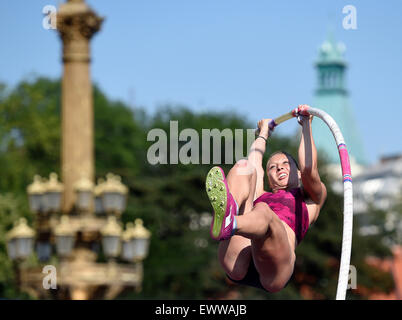 Prague, Czech Republic. 01st July, 2015. Jirina Ptacnikova (CZE) during Prague rod, athletic exhibition meeting - Stock Photo