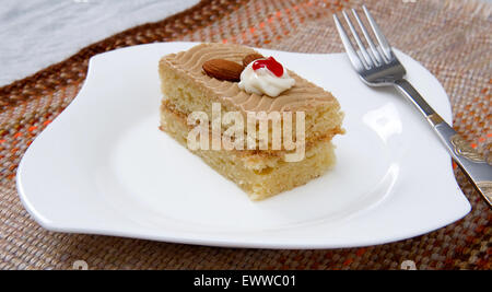 Coffee Cream Pastry - Stock Photo