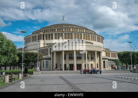 Centennial Hall, Wroclaw, Poland. A UNESCO World Heritage Site. - Stock Photo