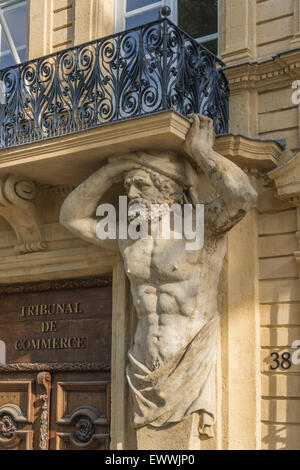 Dorway with caryatids tribunal de commerce atlas figures cours stock photo royalty free - Cours de cuisine bouches du rhone ...