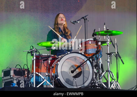Metronomy plays British Summertime Hyde Park 2015 on 20/06/2015 .   Persons pictured: Anna Prior. Picture by JEP - Stock Photo