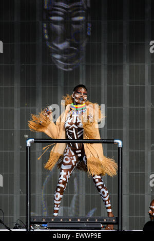 Grace Jones plays British Summertime Hyde Park 2015 on 21/06/2015 .   Persons pictured: Grace Jones. Picture by - Stock Photo