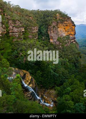 Leura Falls - Blue Mountains National Park - NSW - Australia - Stock Photo
