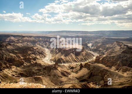 Hobas, Namibia, Africa - Fish River Canyon,   the largest canyon in Africa. Part of the ǀAi-ǀAis/Richtersveld Transfrontier - Stock Photo