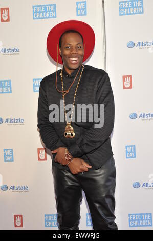 2015 We Day held at the Allstate Arena in Rosemont - Arrivals  Featuring: Kardinal Offishall Where: Chicago, Illinois, - Stock Photo