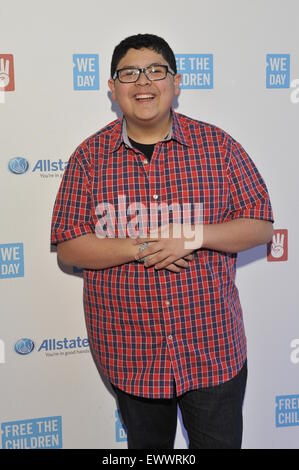 2015 We Day held at the Allstate Arena in Rosemont - Arrivals  Featuring: Rico Rodriguez Where: Chicago, Illinois, - Stock Photo