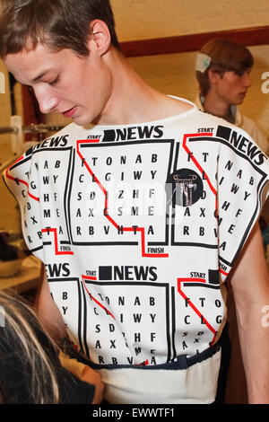 Backstage at J W Anderson London Collections Mens SS16 - Stock Photo