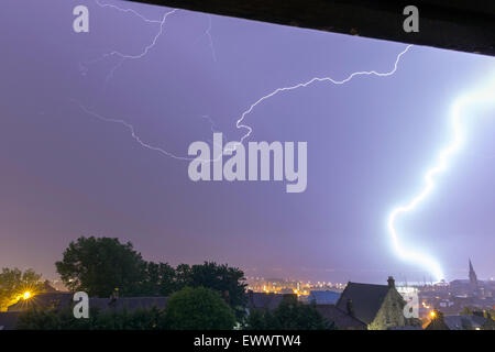 Dundee, Scotland, UK. 2nd July, 2015. With thunderstorms and lightning/showers forecast due to the change in weather - Stock Photo