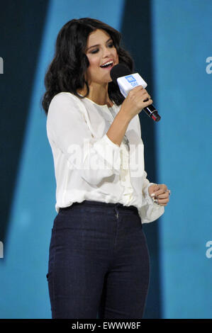 2015 We Day held at the Allstate Arena in Rosemont - Performance  Featuring: Selena Gomez Where: Chicago, Illinois, - Stock Photo