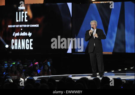 2015 We Day held at the Allstate Arena in Rosemont - Performance  Featuring: Martin Sheen Where: Chicago, Illinois, - Stock Photo
