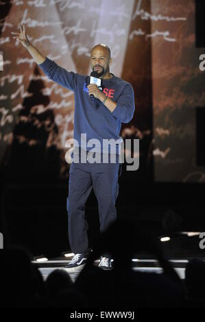 2015 We Day held at the Allstate Arena in Rosemont - Performance  Featuring: Common Where: Chicago, Illinois, United - Stock Photo
