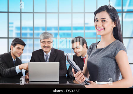 4 indian Business group Partner Discussion - Stock Photo