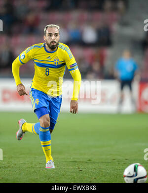 Prague, Czech Republic. 27th June, 2015. Abdullah Khalili of Sweden in action during the UEFA Under-21 European - Stock Photo