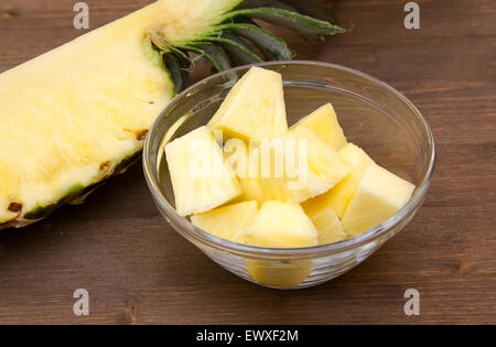 Organic bread over rustic table stock photo royalty free image id - Sliced Pineapple On A Wooden Bowl Over White Background