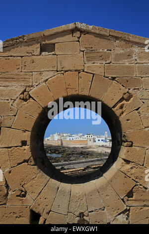 View from the Skala de la Ville of Essaouira on the windy Atlantic coast, in Morocco, North Africa - Stock Photo