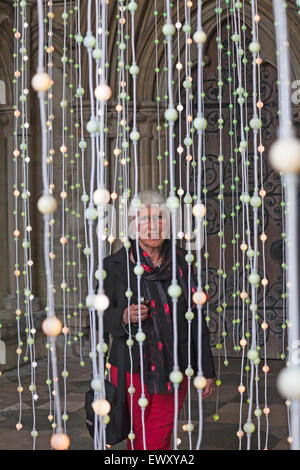 Enlightenment, in the North porch of Salisbury Cathedral, made of about 6000 suspended points of light, Salisbury, - Stock Photo