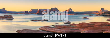 Padre Bay, from Cookie Jar Butte. Lake Powell, Utah, USA - Stock Photo