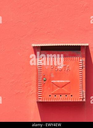 Mailbox postbox Burano Venetian Lagoon Veneto Italy Europe - Stock Photo