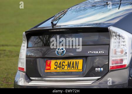 personalized number plates cherished  car car cherished - Stock Photo