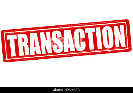 Stamp with word transaction inside, ilustration - Stock Photo