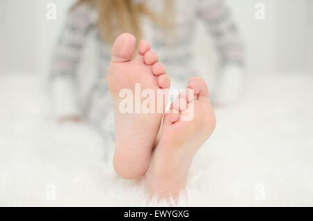 Close-up of a girls feet - Stock Photo