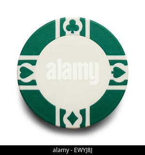 Blank Casino Poker Chip Isolated on White Background. - Stock Photo