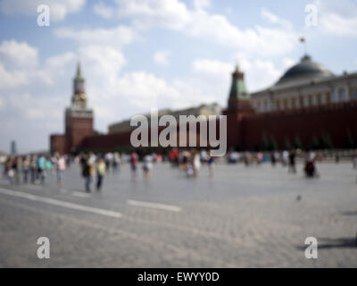Red Square in Moscow. 14th June, 2015. Blurred photo as background © Igor Golovniov/ZUMA Wire/Alamy Live News - Stock Photo