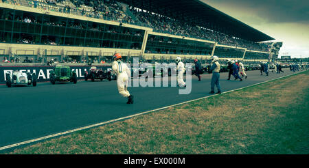 Start of Classic Le Mans race 2014 - Stock Photo