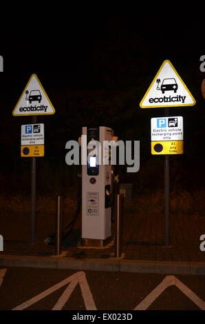 With over 32,000 registered Electric cars on the Roads in the UK  there will be a need for more Electric Car Charging - Stock Photo