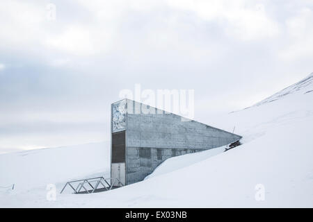 Global Seed Vault, Svalbard, Norway - Stock Photo