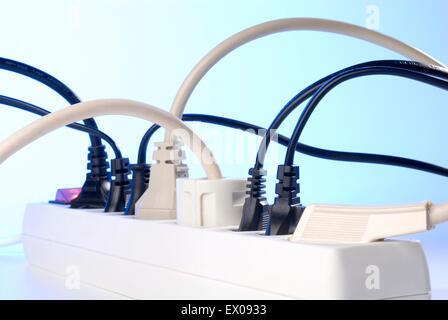 Power strip with many plugs