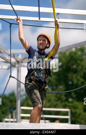Adventure activities for kids at the Farewell to the Garrison Festival, Bordon, Hampshire,  UK. Saturday 27 June - Stock Photo