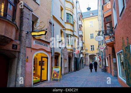 Hofgasse, Altstadt, old town, Innsbruck, Inn Valley, Tyrol, Austria - Stock Photo