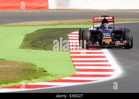 Silverstone, Northants, UK. 03rd July, 2015. Formula 1 British Grand Prix practice. Max Verstappen, Scuderia Toro - Stock Photo