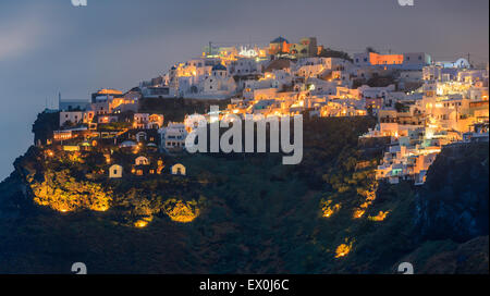 Imerovigli is a small town between Fira and Oia on Santorini, one of  Cyclades islands in Aegean Sea, Greece. - Stock Photo